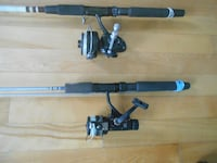 2 Fihing rods and reels, ready to fish MONTREAL