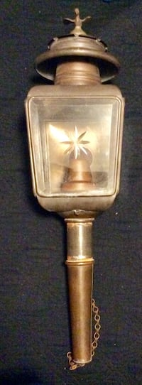 Antique Brass coach light brass oil lantern Pearl, 39208