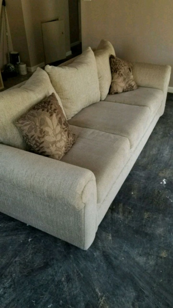 gray suede 2-seat sofa