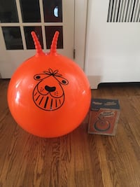 New Orange bouncer with pump and box.