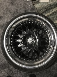 3 piece wheels with tires