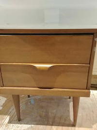 brown wooden 2-drawer nightstand Penticton, V2A 4T3