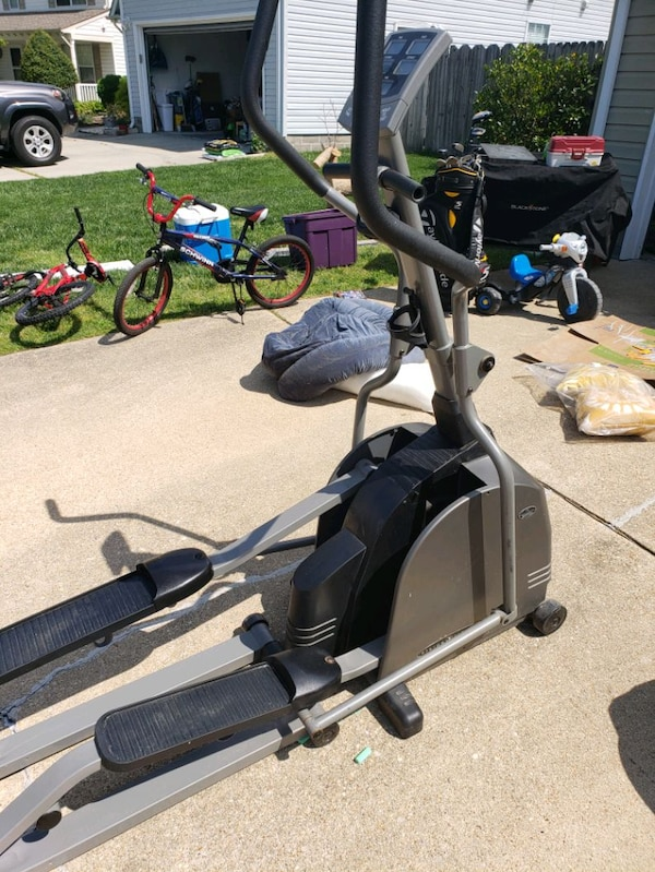 black and gray elliptical trainer 1