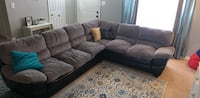 black leather tufted sectional sofa Dumfries, 22025