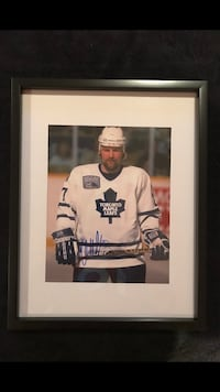 Toronto maple leafs Wendell Clark Signed and framed photo Châteauguay, J6K 2A7