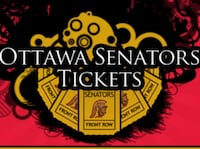 2 tickets and parking!! $100 OBO Ottawa, K1R 7A1