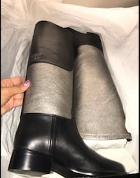 Authentic chanel boots 37 1/2