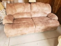 Tan Couch with 2 recliners Burbank, 60459