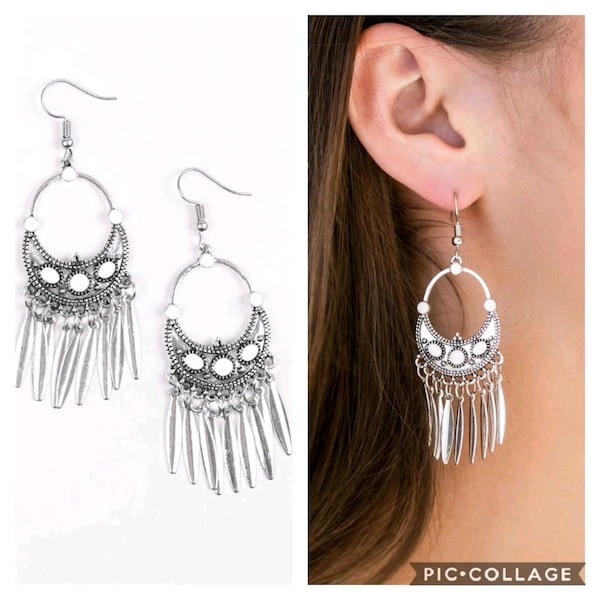 Cry me a Riviera white earrings