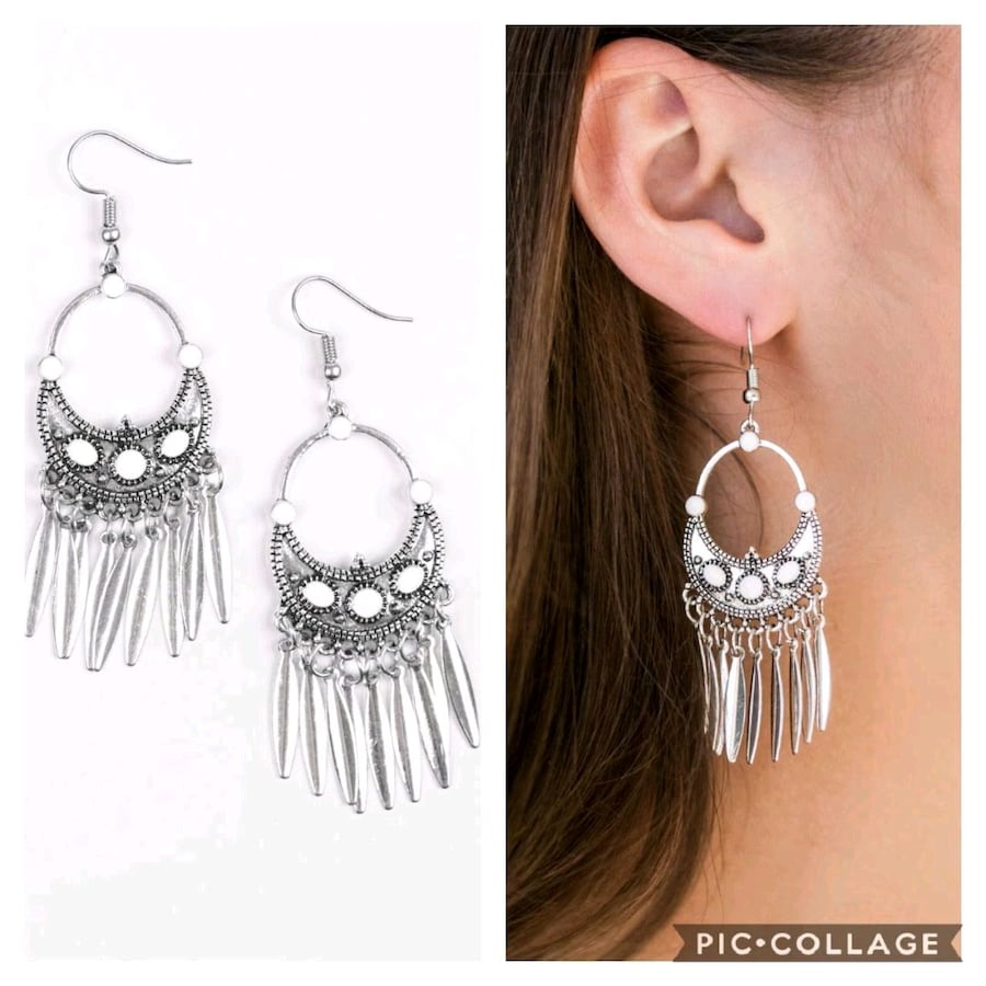 Cry me a Riviera white earrings  0f771d64-30e2-41d9-9a56-aafbe8a3367d