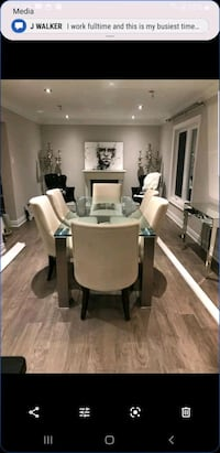 MOBILIA GLASS DINING TABLE FOR SALE TABLE ONLY
