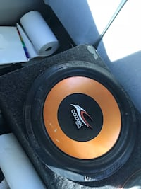black and yellow subwoofer speaker Opelousas, 70570