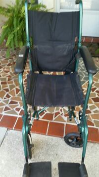 green and black wheelchair