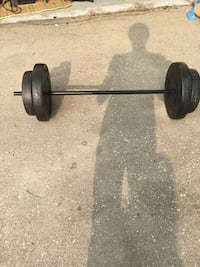 black and gray barbell and dumbbells Steinbach, R5G 0X6