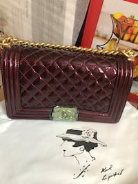 Burgundy Le Boy crossbody Sterling, 20164