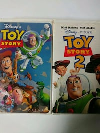 Toy Story 1 and 2 vhs tapes