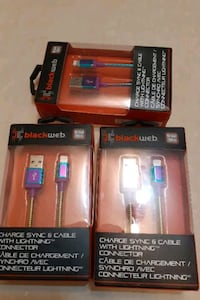 10 each or 25 for everything  black web charger I phone