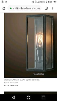 Restoration Hardware Sconce Dallas