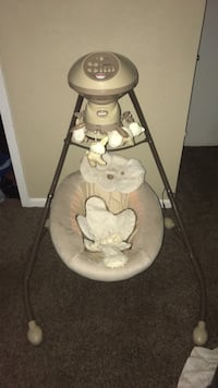 baby's gray and white cradle and swing Corpus Christi, 78413