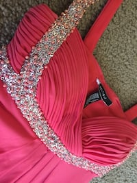 studded red tank dress