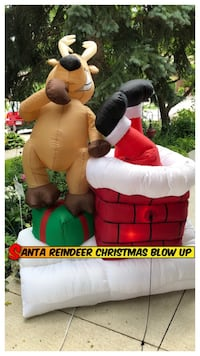 SALE Santa Reindeer Christmas Blow Up 6ft Oakville, L6H 3M7