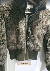 FAUX FUR JACKET SIZE M