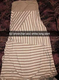Long tanish brown and white stripped dressy skirt from vanity  Altoona, 50009