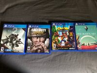 PS4 and Games (Selling all together)  Waco, 76706