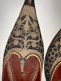 Vintage Arabian shoes handmade hand stitch. This is from my collection Wesley Chapel, 33545