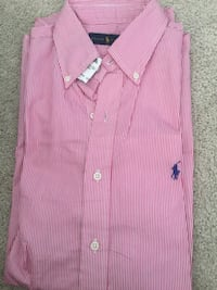 pink and white striped polo shirt Severn, 21144