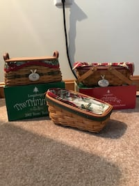 Longaberger tree trimming baskets - 3 total Hagerstown, 21740