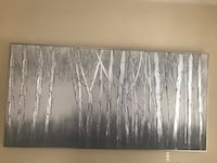 Silver and gray oil painting Arlington, 22206