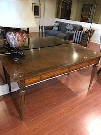 rectangular brown wooden coffee table Toronto