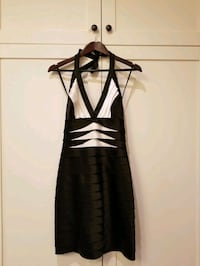 Black & White Halter Neckline BCBG MAXAZRIA Dress Mississauga, L5B 1W3