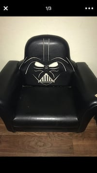 black leather padded sofa chair Moreno Valley, 92557