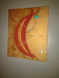 brown and red abstract painting Shawnee, 74804