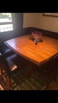 Kitchen dining table w/two benches, two chairs. Sterling, 20165
