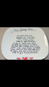 The Giving Plate ceramic plate- made to order