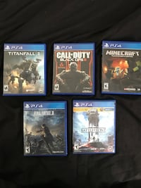 PS4 games $15 each $60 for all Denison, 75020