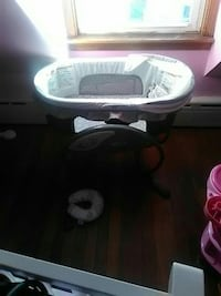 baby's white and black bassinet Taunton, 02780