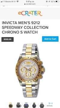 round gold chronograph watch with link bracelet Boca Ratón, 33431