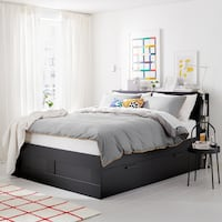BRIMNES IKEA King Sized Bed Frame With Storage Odenton, 21113