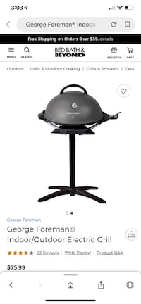 George Foreman Indoor /outdoor Grill  Chicago, 60607