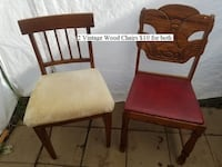 2 Vintage Wood Chairs $10 for both 252 mi