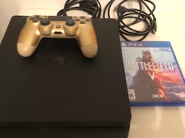 PS4 Slim Console Sony PlayStation 4 with controller & 1 game $299