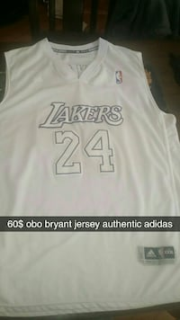 white Los Angeles Lakers Kobe Bryant 24 jersey shirt