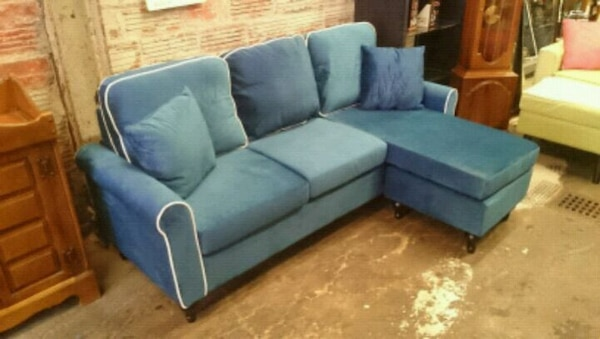 Admirable Navy Blue Velvet Couch Sofa Onthecornerstone Fun Painted Chair Ideas Images Onthecornerstoneorg