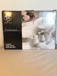 New 5 Piece Fine China Serving Set Never Used or Opened Richmond Hill, L4C 6V5