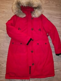 Extra long warm downfilled parka -large 1960 km