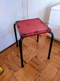 Rustic red metal side table Washington, 20009